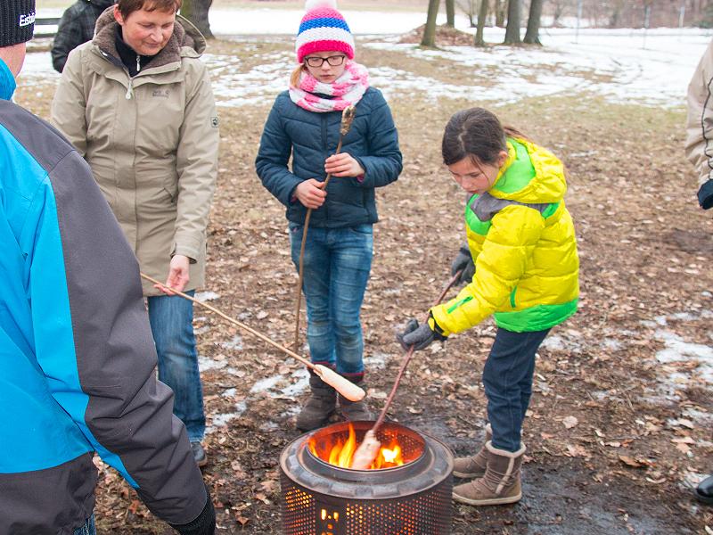 Feuerkorb als Grill benutzt
